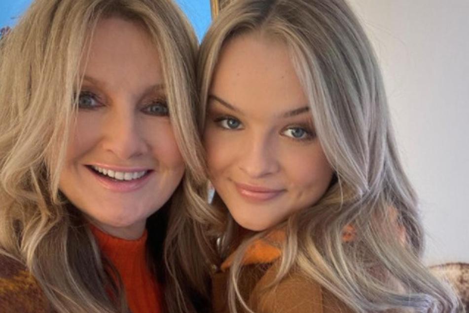 """Gemeinsam mit ihrer Tochter Nele (18) posierte die RTL-Ikone für eine Kampagne mit der Modemarke """"Marc Cain"""" vor der Kamera."""
