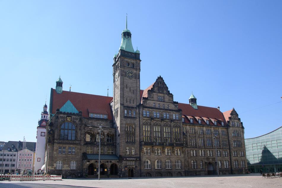 Auf dem Chemnitzer Marktplatz herrscht gespenstische Leere.