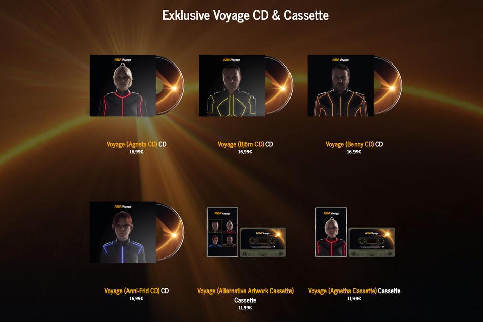 """""""Voyage"""" erscheint auf CD und Kassette in verschiedenen Designs."""