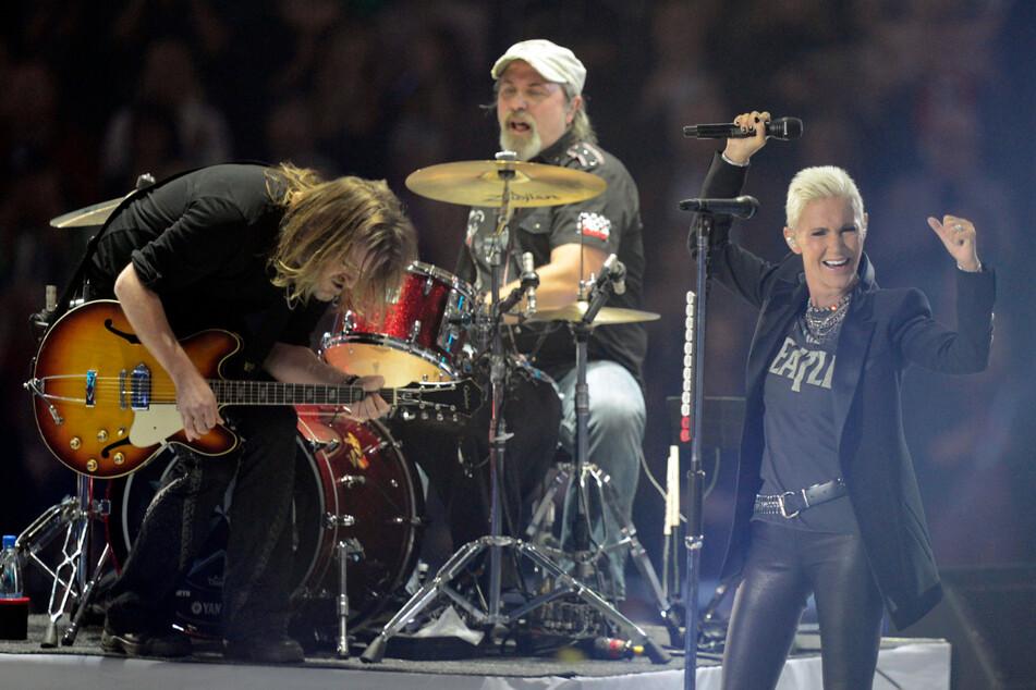 """Von der Band Roxette ist nun auch der Schlagzeuger Per """"Pelle"""" Alsing (Mitte) gestorben. (Archivbild)"""