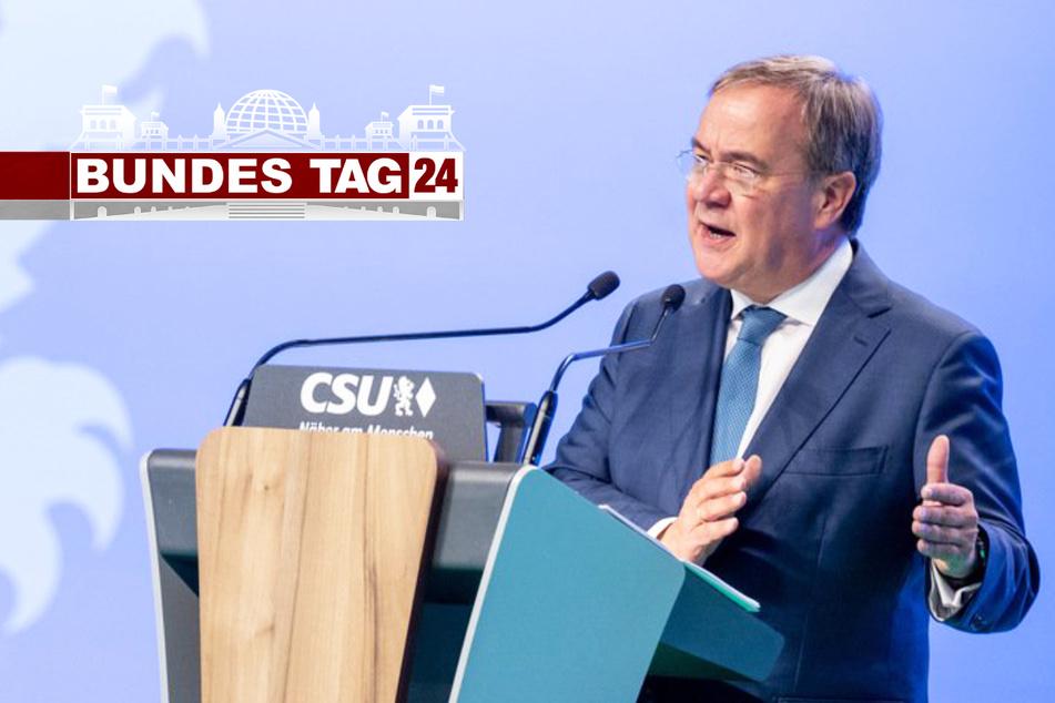 Kämpferischer Armin Laschet auf CSU-Parteitag: Mit klarem Kurs zum Wahlsieg?