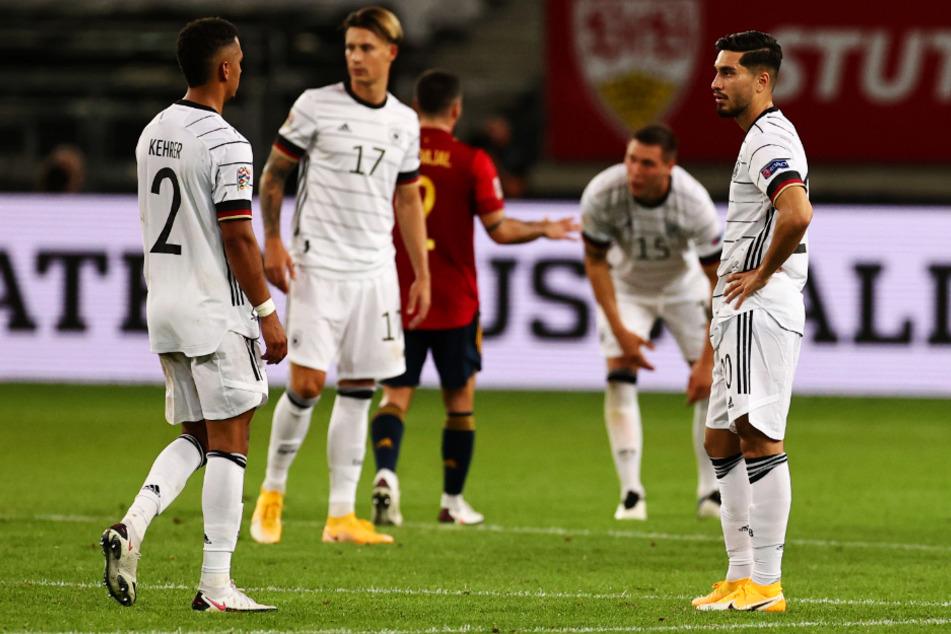 Niedergeschlagene Gesichter: Deutschland kassierte gegen Spanien in letzter Sekunde den Ausgleich.