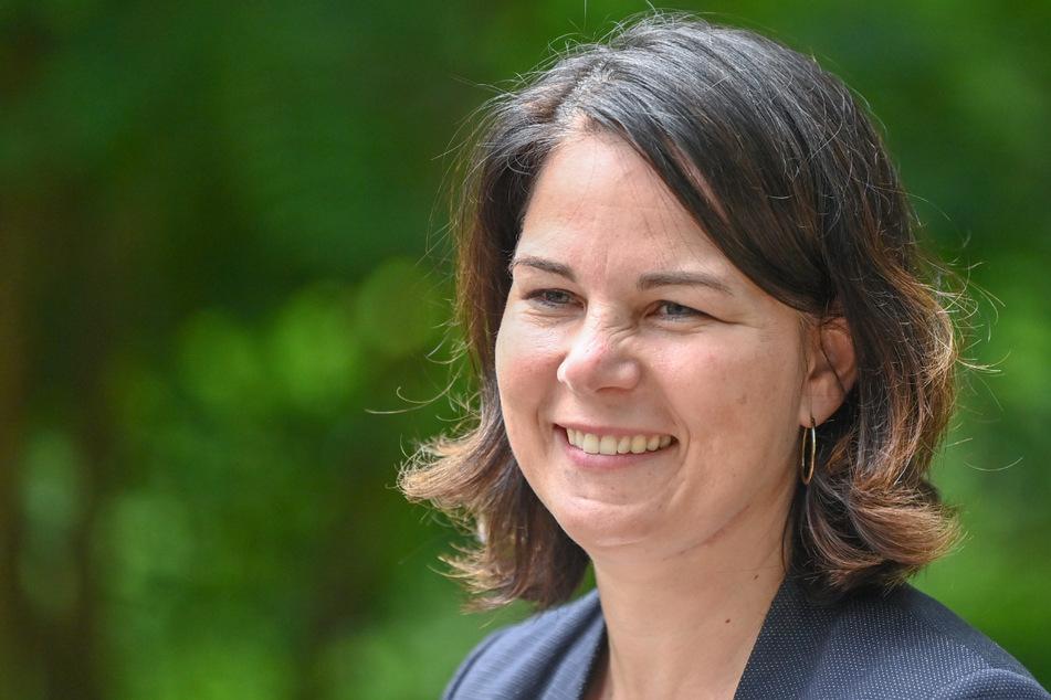 Annalena Baerbock (40) während ihrer Sommereise in der Lieberoser Heide (Brandenburg).