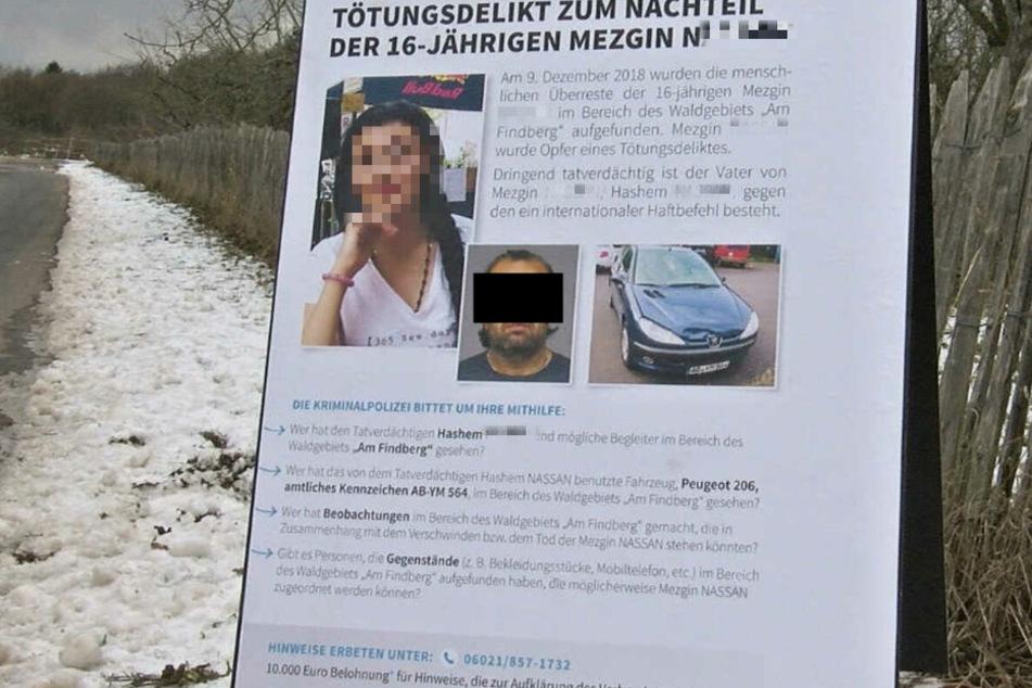 """Mit diesem Plakat sucht die Polizei in Unterfranken nach weiteren Hinweise im Fall """"Mezgin N.""""."""