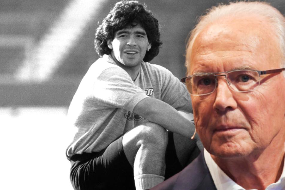 Trauer um Diego Maradona (†60): Beckenbauer über die Begegnungen mit der Fußball-Legende