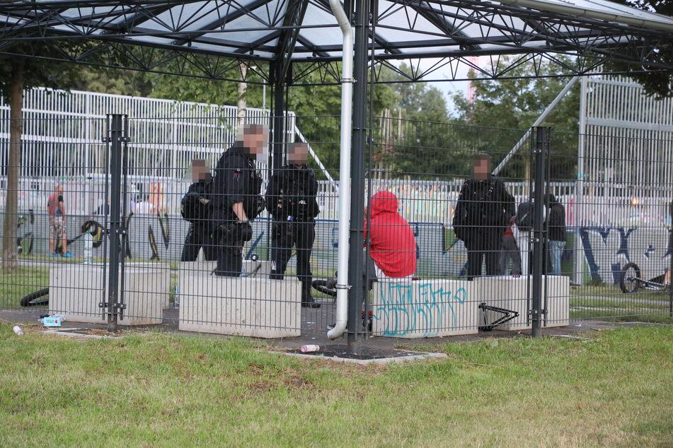 Drogenfahndung unter Skatern und BMX-Fahrern: Die Polizei sorgte im Konkordiapark für Aufregung.