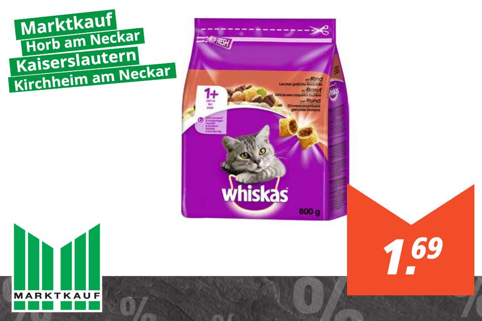 Whiskas Katzenfutter für 1,69 Euro