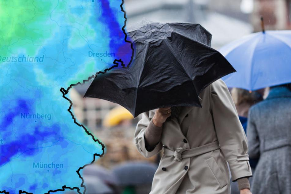 Schauer und Gewitter: Ab Donnerstag wird's kalt in Deutschland