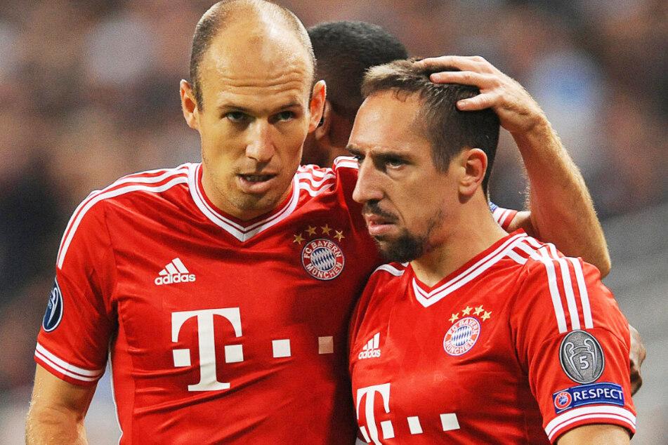 Franck Ribéry (37, r.) hat eine Bayern-Ära mitgeprägt.
