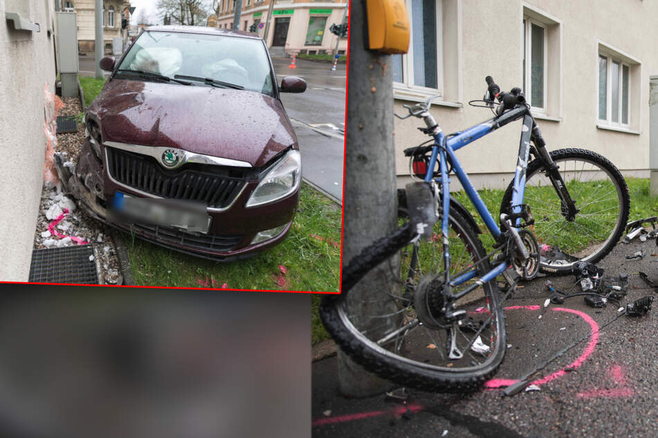 Chemnitz: Schwerer Unfall in Freiberg: Auto erfasst Kind auf Fahrrad