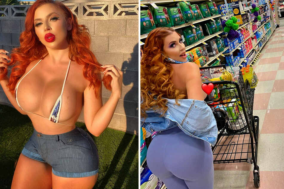Random supermarket customer gets a huge surprise from a Playboy model