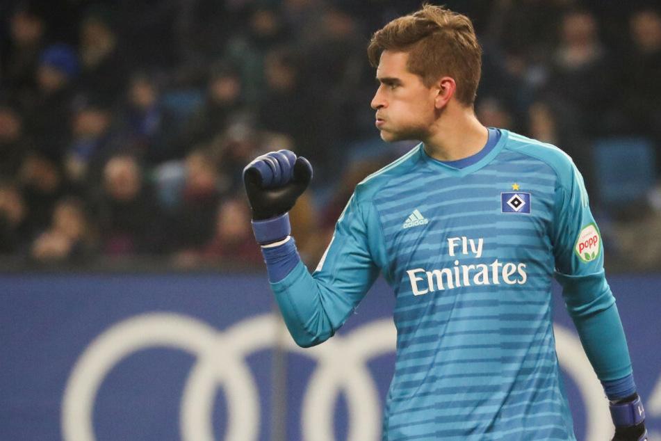 Hamburgs Torwart Julian Pollersbeck steht vor einem Wechsel zum 1. FC Union Berlin.