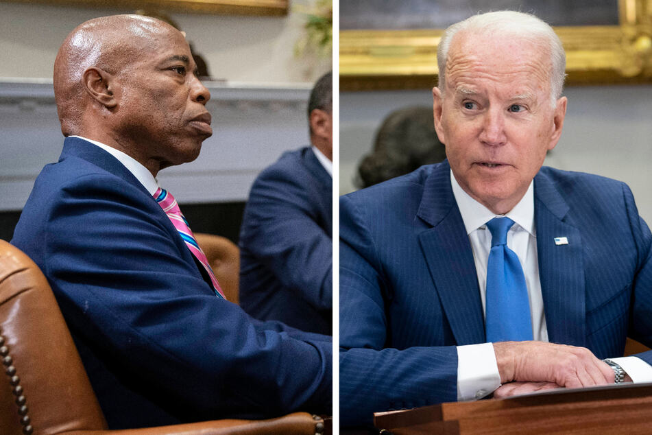 Joe Biden meets with NYC mayoral candidate Eric Adams and lawmakers over gun violence