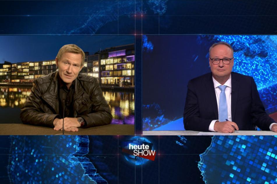 """Für beide eine Premiere: Welke (54) und """"Overbeck"""" (Jankowsky, 52) - der eine zum ersten Mal im Krimi, der andere erstmals """"Influencer"""" bei der """"heute-show""""..."""