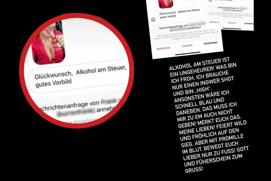 Evelyn Burdecki (32) reagierte prompt auf die Anschuldigungen ihrer Fans und stellte klar: Alkohol am Steuer kommt der 32-Jährige nicht in die Tüte!