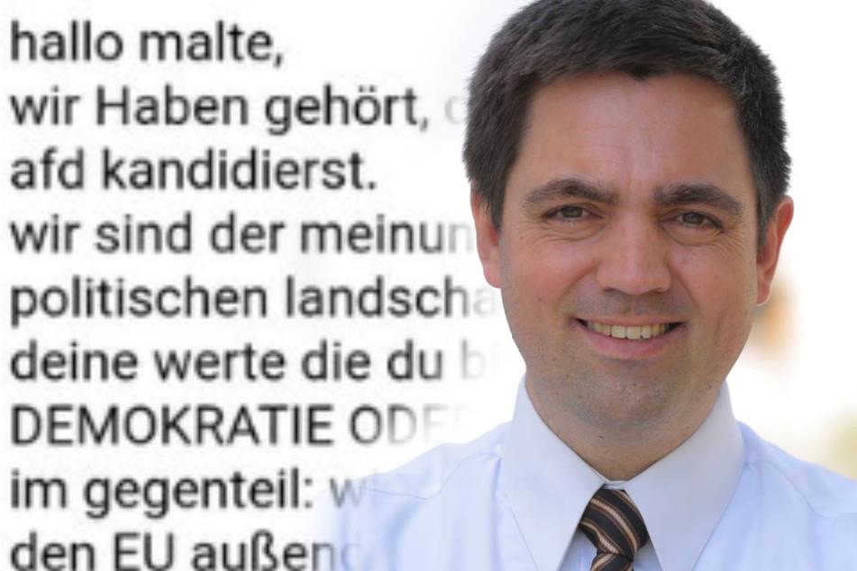 Staatsschutz ermittelt: Farb-Attacke auf AfD-Kandidaten fürs Stuttgarter Rathaus