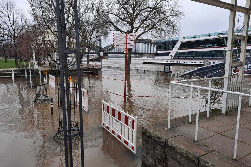 Hochwasser in Köln verschärft sich: Rhein-Pegel steigt weiter