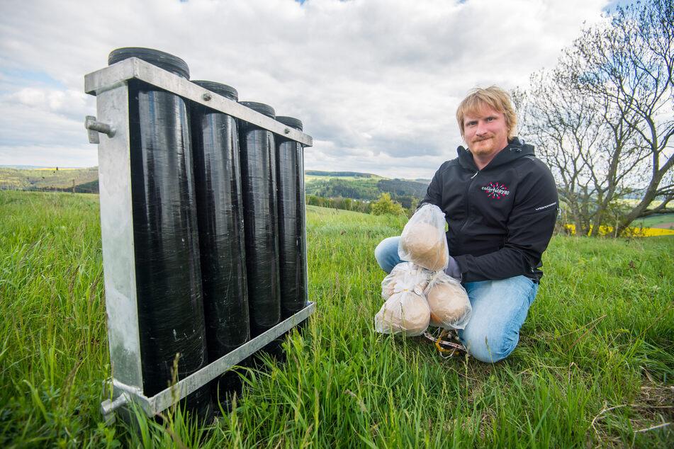Pyrotechniker plant Mega-Feuerwerk im Erzgebirge