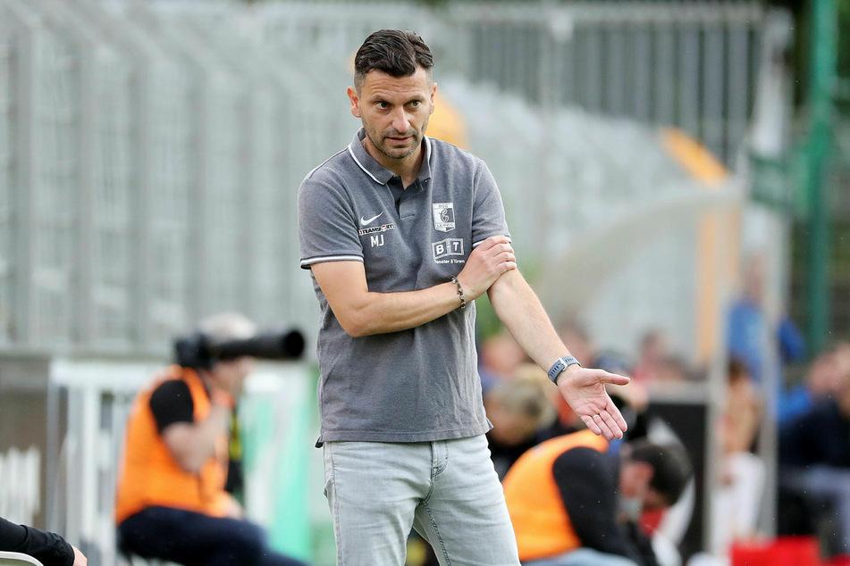 Chemie Leipzigs Trainer Miroslav Jagatic sah zum Auftakt in die neue Saison in der Regionalliga Nordost eine schwache erste Halbzeit. (Archivbild)