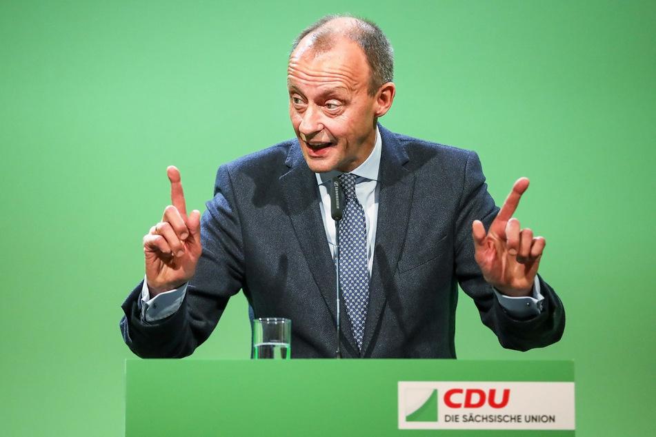 Auch Wirtschaftsrats-Vize Friedrich Merz (64, CDU) besucht Chemnitz.