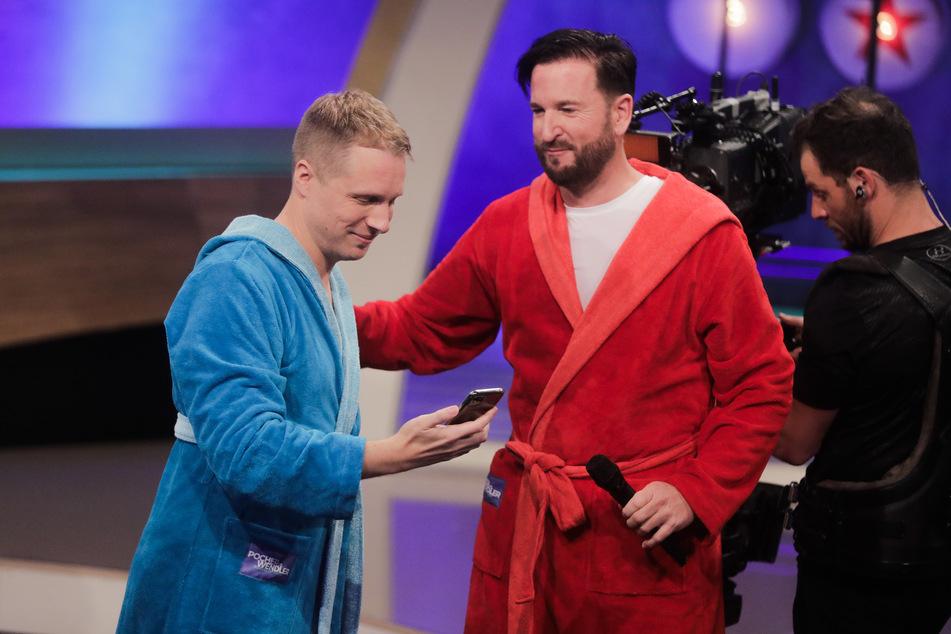 """Oliver Pocher und Michael Wendler bei der Live-Show """"Pocher vs. Wendler - Schluss mit lustig!""""."""
