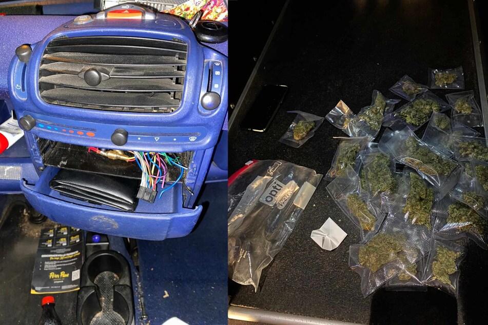 Die Zollbeamten fanden neben zahlreichen Betäubungsmitteln auch Bargeld hinter dem Radio.