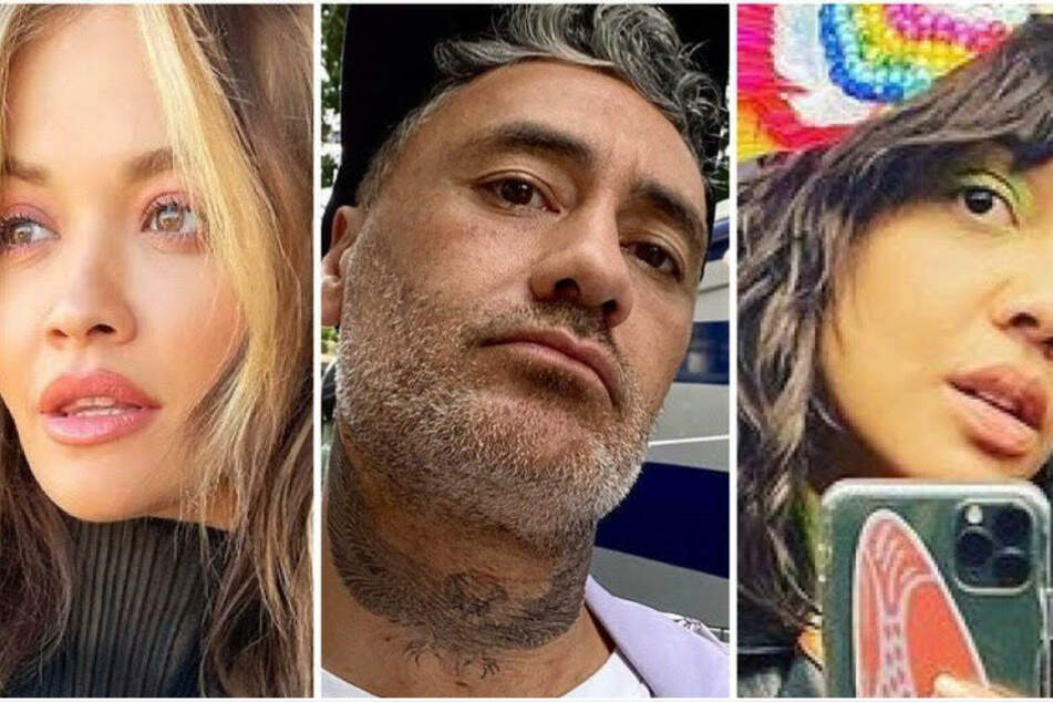 Ménage-à-trois? Rita Ora and Tessa Thompson caught smooching Thor director Taika Waititi