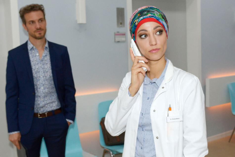 Nazan zeigt Felix die kalte Schulter, nachdem er ihr Laura als seine Ehefrau vorgestellt hat.