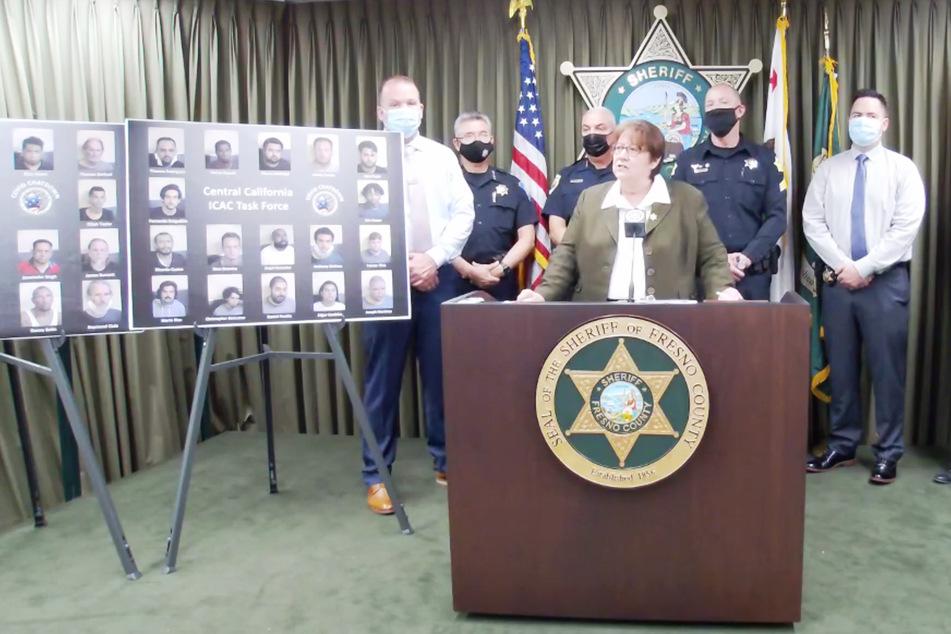 Die Polizei in Fresno verhaftete alle 34 potenziellen Täter.