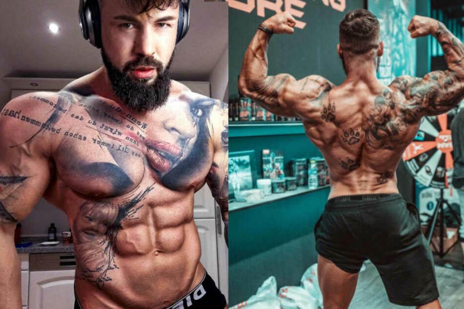 In den sozialen Netzwerken können Fans dem Bodybuilder fast täglich beim Training zusehen.
