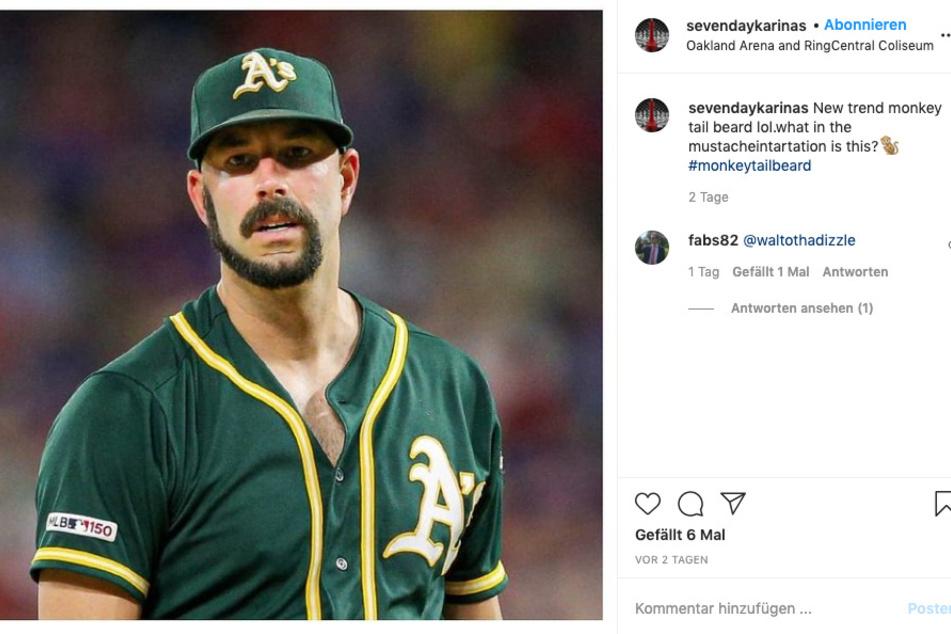 DAS Zugpfer.. DER Zugaffe des neuen Bart-Trends: Baseballer Michael Fiers (35).