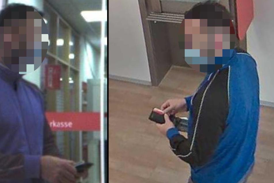 Die Polizei sucht nach dem unbekannten Mann, der 3000 Euro in einer Kölner Sparkasse unterschlagen haben soll. (Fotomontage)