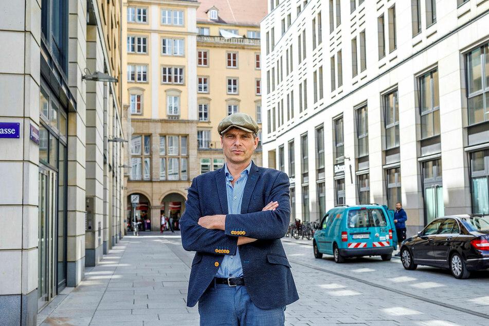 Thomas Löser (48, Grüne) kämpft für den Erhalt des Gebäudes.