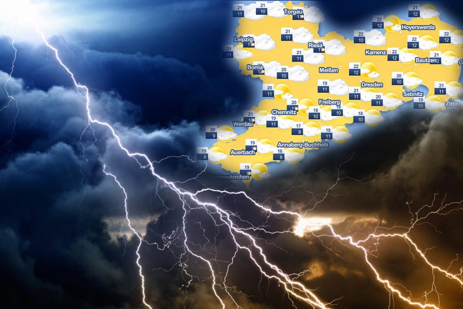 Über Sachsen braut sich was zusammen: Das Wetter am Wochenende wird ungemütlich