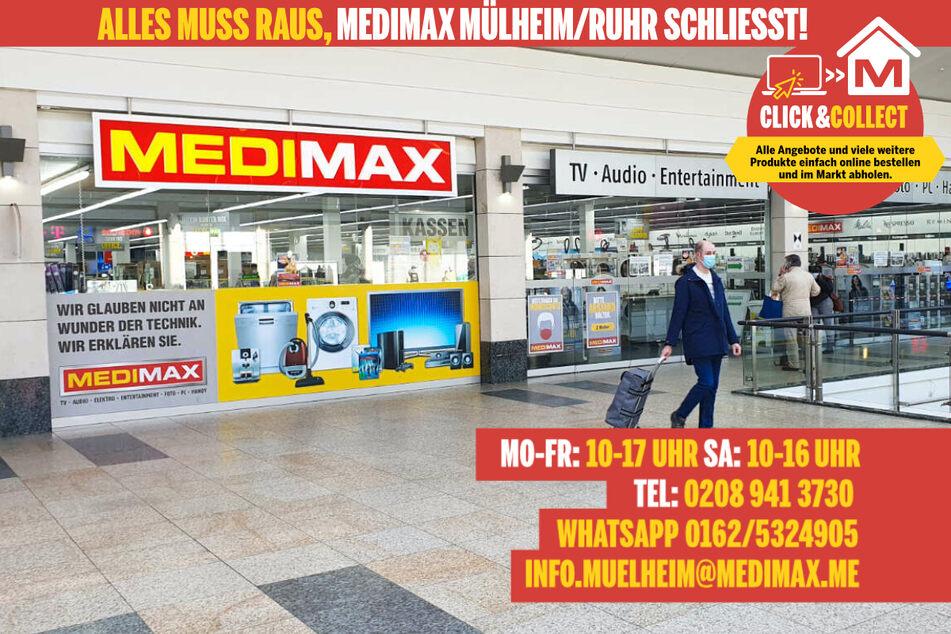 Weil MEDIMAX in Mülheim schließt, gibt's jetzt Technik super günstig.