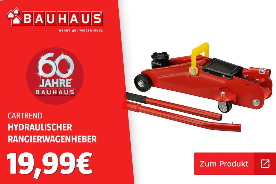 Hydraulischer Rangierwagenheber für 19,99 Euro.