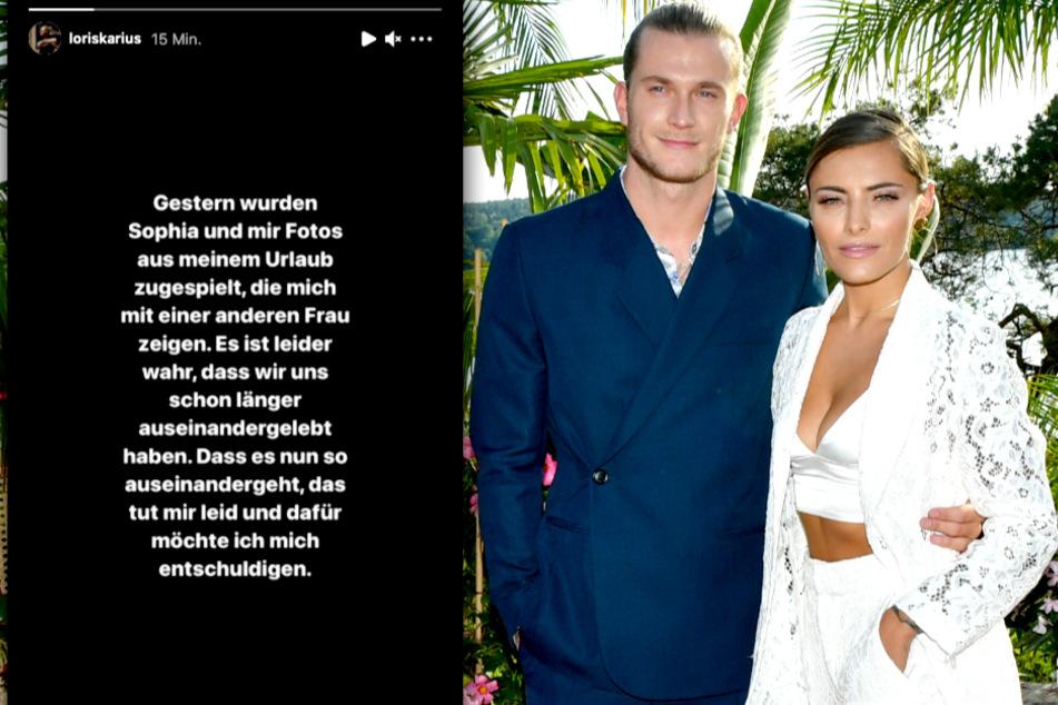 So gab Loris Karius (27) die Trennung von Sophia Thomalla (31) bekannt.