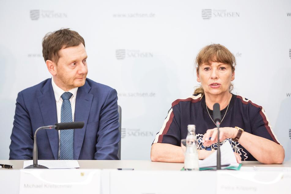 Ministerpräsident Michael Kretschmer (44, CDU) und Gesundheitsministerin Petra Köpping (61, SPD) verkündeten neue Schutzmaßnahmen.