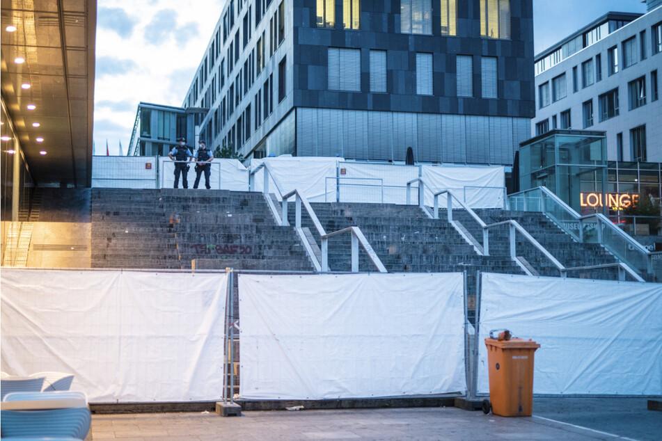 Die Freitreppe in Stuttgart wurde am Mittwochabend abgesperrt.
