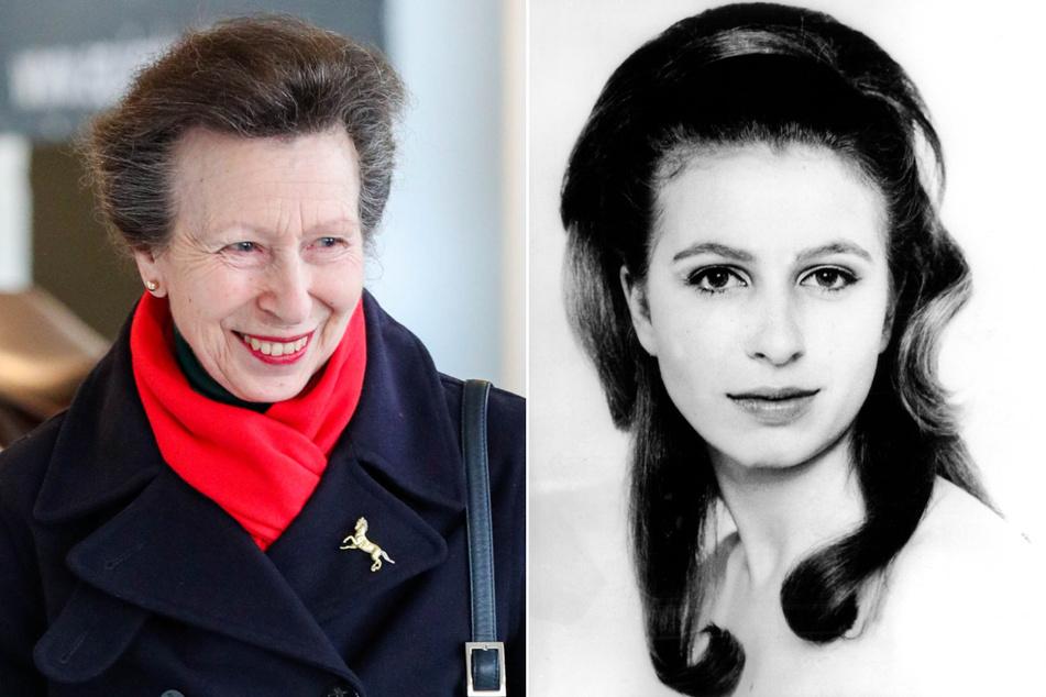links: Prinzessin Anne von Großbritannien wird am 15. August 2020 70 Jahre alt. rechts: Offizielle Porträtstudie von Prinzessin Anne von Großbritannien, aufgenommen von ihrem Onkel Lord Snowdon anlässlich ihres 19. Geburtstages am 15.8.1969.
