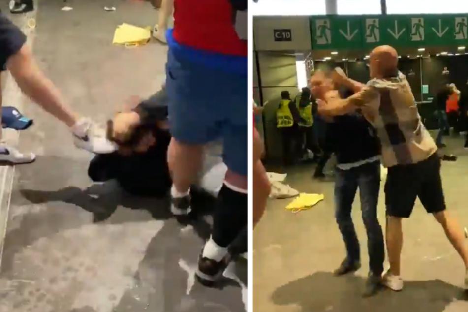 Ein viraler Clip im Netz zeigt, wie mehrere Personen geschlagen und getreten werden.