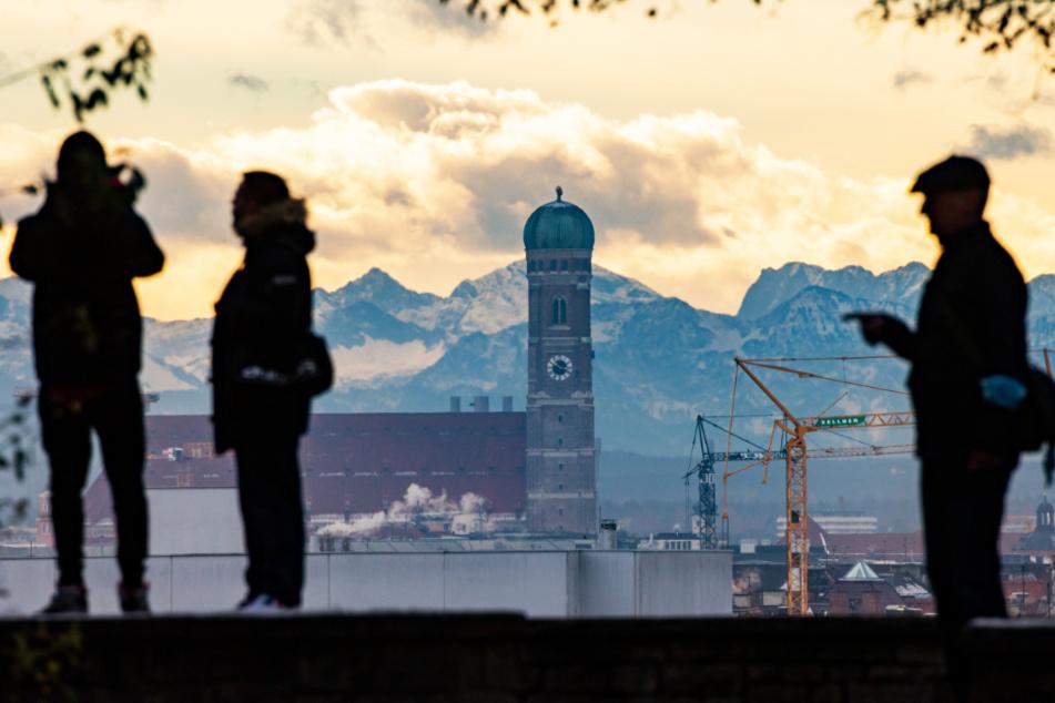 Blick vom Luitpoldhügel im Münchner Stadtteil Schwabing.