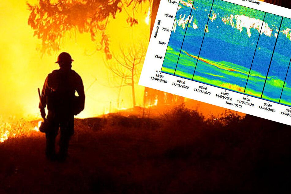 Brandkastrophe in Kalifornien: US-Rauchwolke über Leipzig