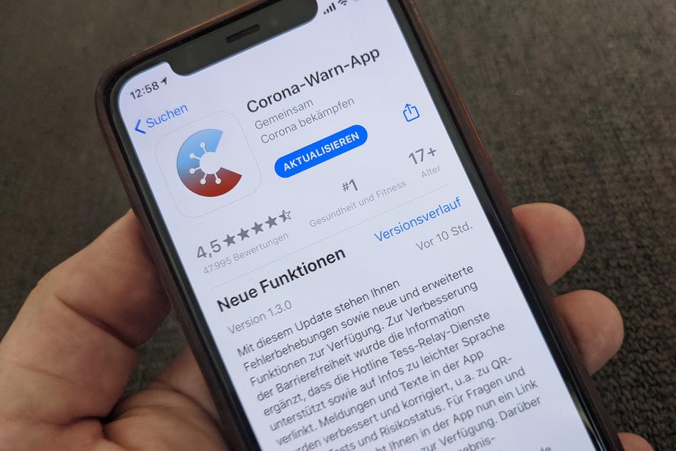 Die aktuelle Corona-Warn-App des Bundes im App-Store von Apple.