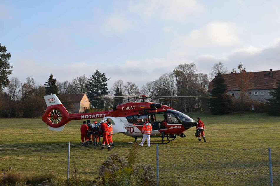 Ein Hubschrauber der deutschen Luftrettung brachte die Schwerverletzte auf schnellstem Wege ins Krankenhaus.