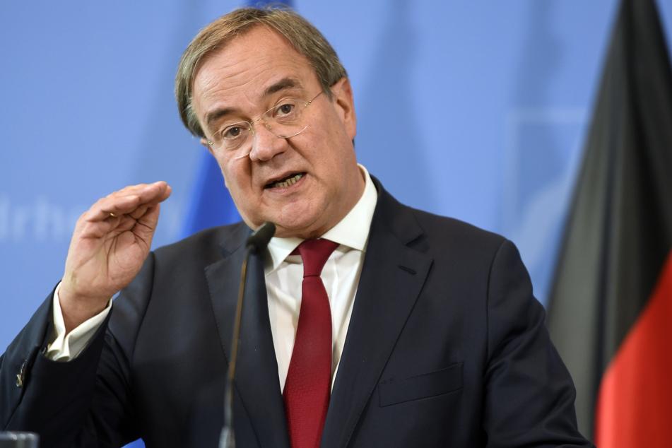 Armin Laschet (CDU), Ministerpräsident von Nordrhein-Westfalen, spricht bei einer Pressekonferenz zur aktuelle Lage und zum weiteren Vorgehen des Landes in der Corona-Pandemie.