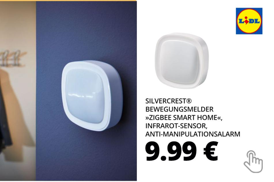 "SILVERCREST® Bewegungsmelder ""Zigbee Smart Home"", Infrarot-Sensor, Anti-Manipulationsalarm"