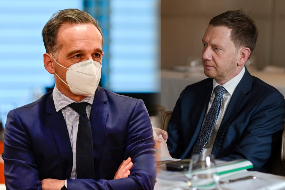 Bundesaußenminister Heiko Maas (l.) und Sachsens Ministerpräsident Michael Kretschmer.