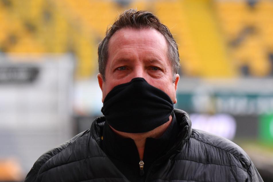 Dynamo-Trainer Markus Kauczinski. Auch im Stadion trägt er oft den Mund- und Nasenschutz. Seine Corona-Erkrankung hat er im Januar relativ glimpflich überstanden.