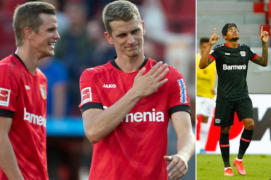 Bild links: Die Zwillingsbrüder Sven (l.) und Lars Bender (32) haben Abschied aus dem Profigeschäft genommen. Bild rechts: Auch Leon Bailey (23) ist weg, für ihn gab es aber eine deftige Ablösesumme.